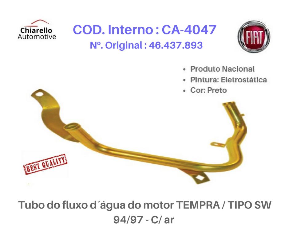 Tubo do fluxo da água do motor MAREA 99/00 - 2.0 MPI 142CV 20v – Gasolina   - Chiarello Automotive