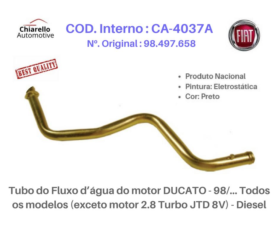 Tubo da água do motor DUCATO 98/... Todos os modelos (exceto motor 2.8 Turbo JTD 8 v) - Diesel  - Chiarello Automotive