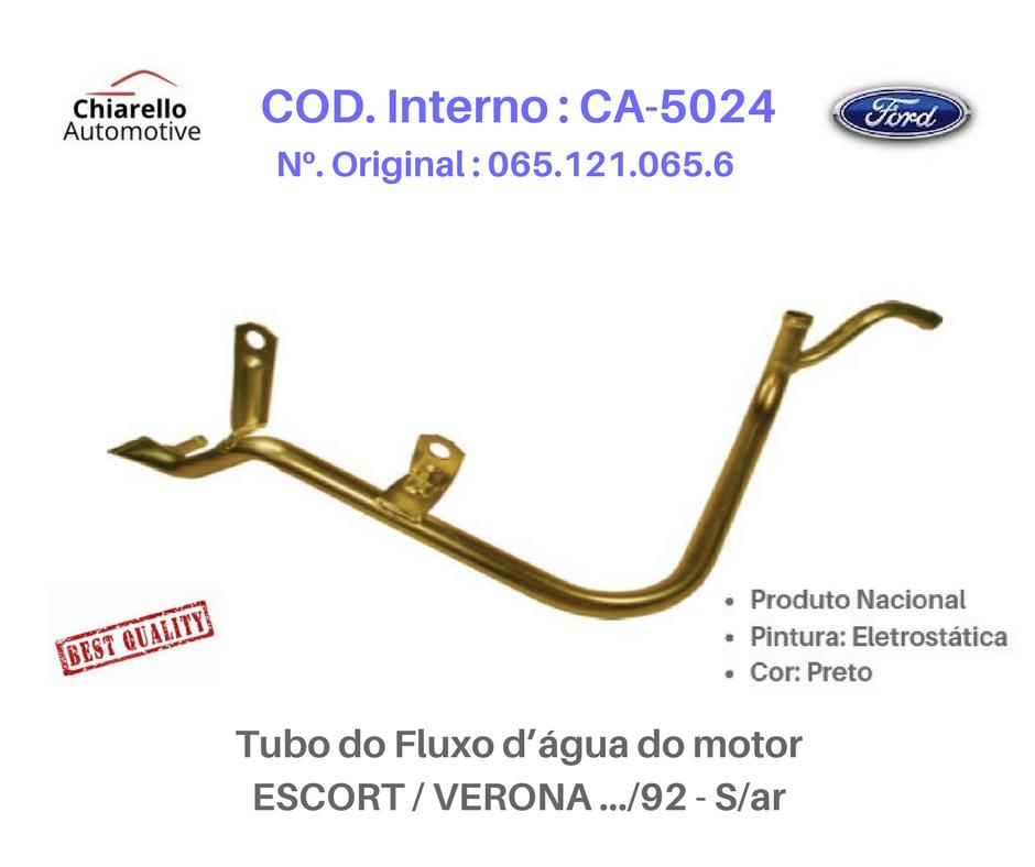 Tubo do Fluxo da água do motor ESCORT / VERONA .../92 - S/ar   - Chiarello Automotive