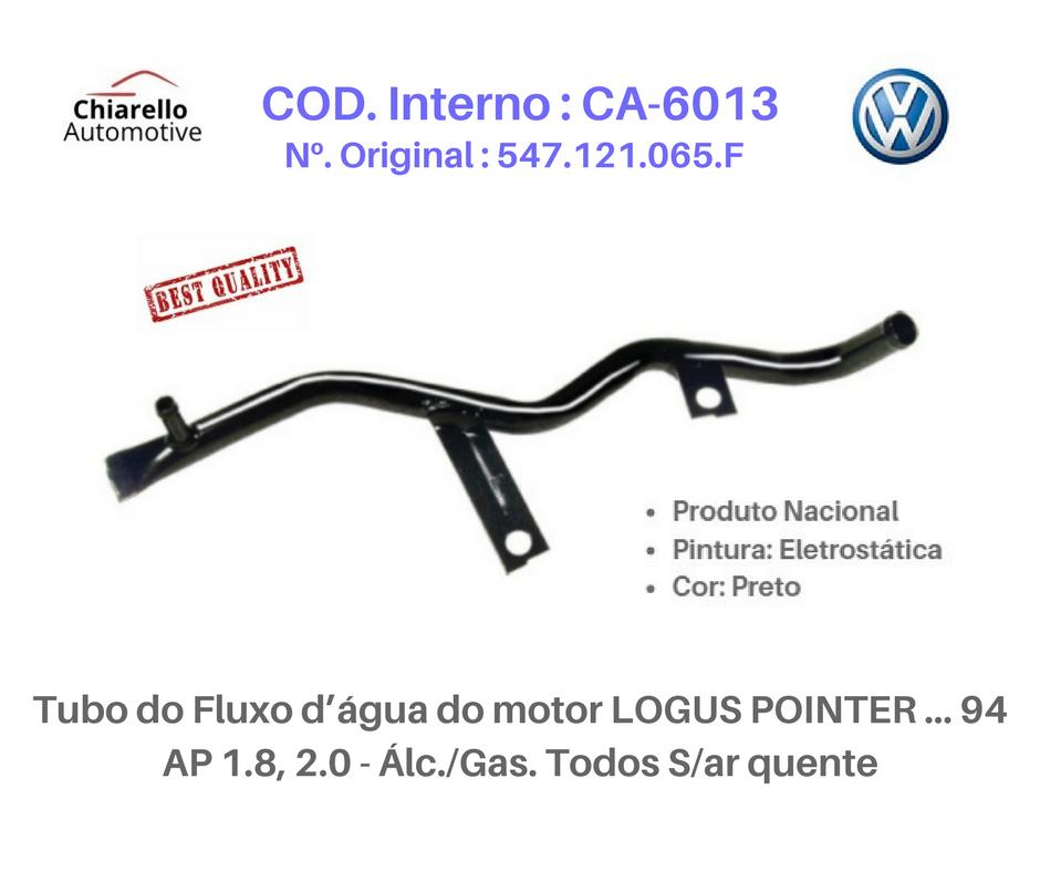 Tubo da água motor LOGUS POINTER AP 1.8, 2.0 - Álc./Gas. Todos S/ar quente  - Chiarello Automotive