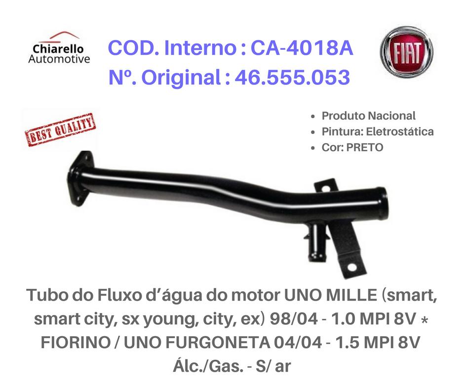 Tubo da água motor MILLE ( TODOS ) - FIORINO - FURGONETA Alc. S/Ar  - Chiarello Automotive