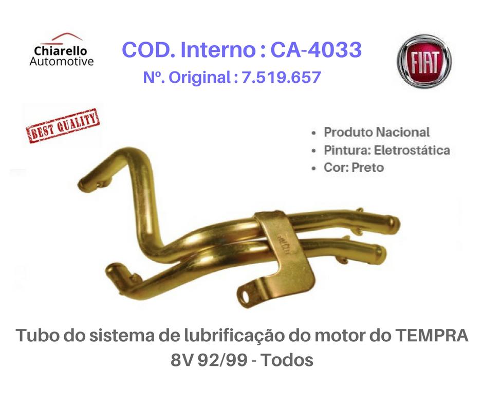 Tubo do sistema de lubrificação do motor do TEMPRA 8V 92/99 - Todos  - Chiarello Automotive