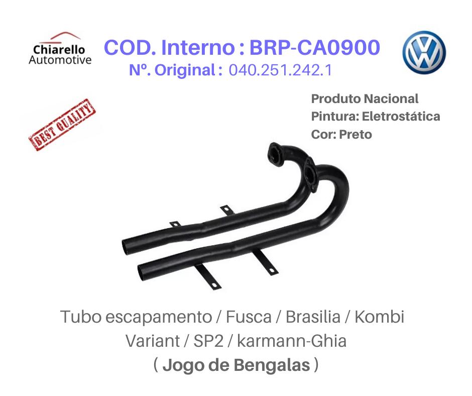 Tubo Escapamento Fusca Brasilia Kombi Variant SP2 BENGALAS  - Chiarello Automotive