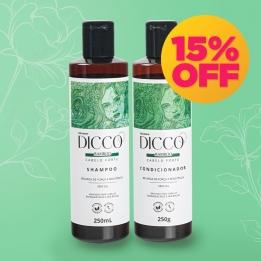 Kit Crescimento Capilar com Bamboo Bio Estimulante Shampoo + Condicionador - DICCO