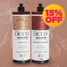 Kit Litro Cachos Definidos e Poderosos  Shampoo + Máscara Umectante - DICCO