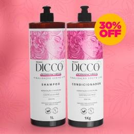 Kit Litro Desmaia Cabelo Liso Perfeito Shampoo + Condicionador - DICCO