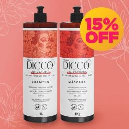 Kit Litro Salva Cabelo Restauração Instantânea Shampoo + Máscara - DICCO