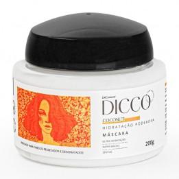 Máscara de Hidratação Poderosa e Nutrição Intensiva Coconut - DICCO