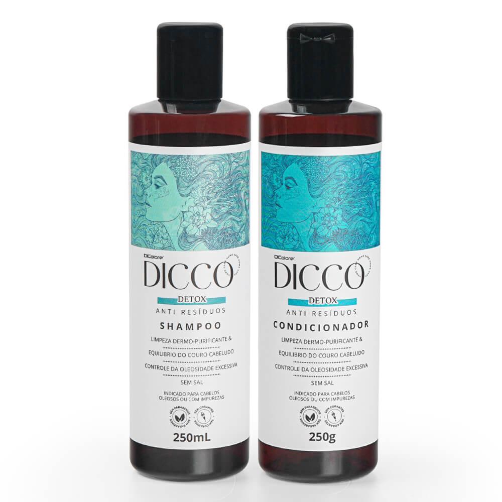 Kit Detox Capilar Anti Resíduos Shampoo + Condicionador - DICCO
