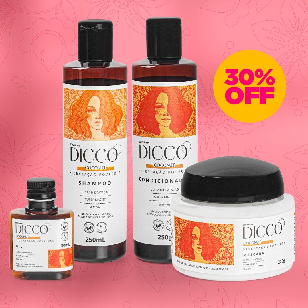 Kit Hidratação Poderosa com Óleo de Coco Coconut (4 produtos) - DICCO