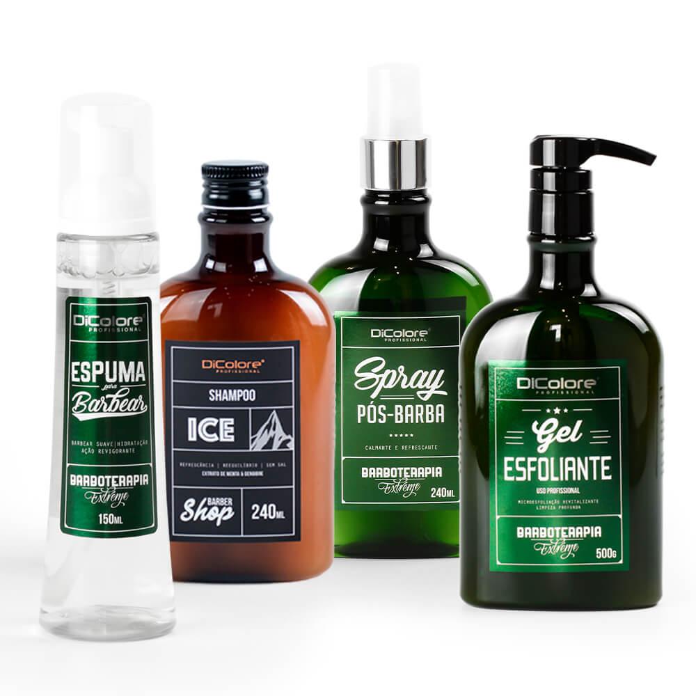 Kit Ice Limpeza Profunda - BarberShop (4 produtos)