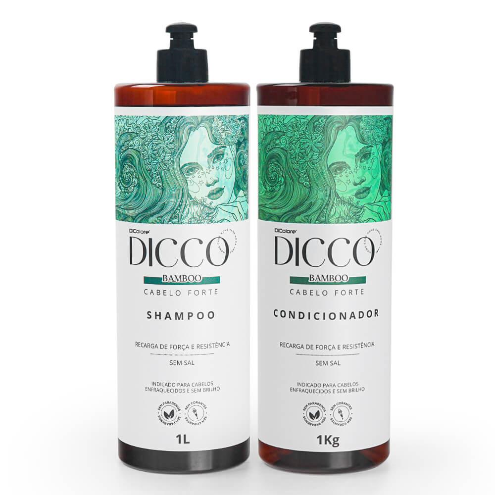 Kit Litro Crescimento Capilar com Bamboo Bio Estimulante Shampoo + Condicionador - DICCO