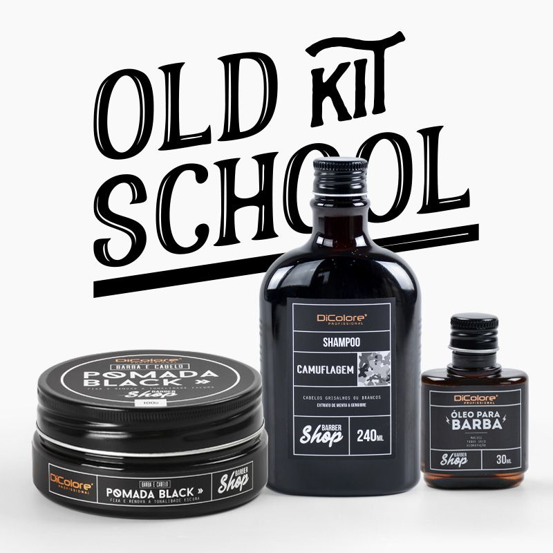Kit Old School, para Grisalhos com Estilo