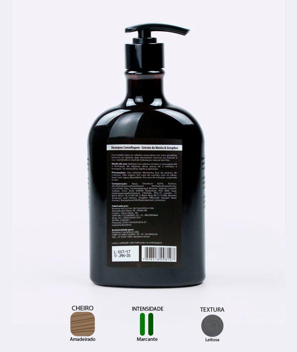 Shampoo Camuflagem Barbershop Dicolore 500ml
