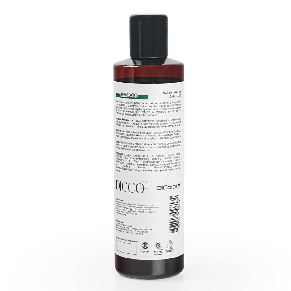 Shampoo de Crescimento Capilar Bio Estimulante Bamboo - DICCO