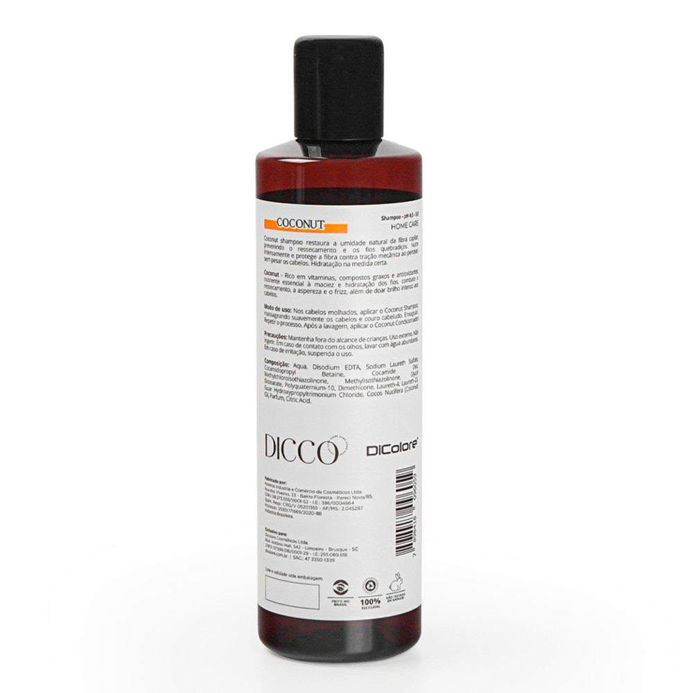 Shampoo de Hidratação e Nutrição Intensiva Coconut - DICCO