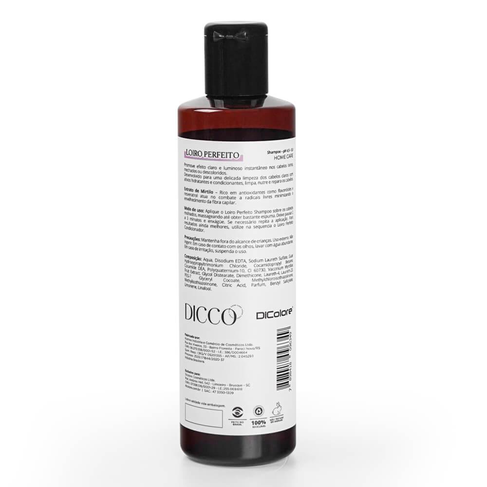 Shampoo Matizador Cabelos Loiros, Mechados e Descoloridos Loiro Perfeito - DICCO
