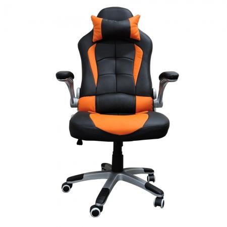 Cadeira Gamer Office Concórdia Ac-8057  Preta Com Detalhe Laranja