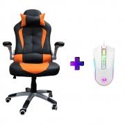 Compre e Ganhe no Kit Gamer: Cadeira Concórdia Ac-8057 Laranja + Brinde  Mouse Gamer Redragon M711W