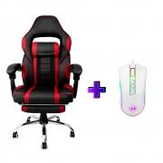 Compre e Ganhe no Kit Gamer : Cadeira Concórdia Ac-8069 Vermelha + Brinde Mouse Gamer Redragon M711W