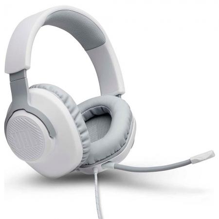 Fone De Ouvido Headset Gamer Jbl Quantum 100 Branco Drivers 40mm