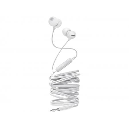 Fone De Ouvido Philips Intra Auricular Upbeat Com Microfone Branco - She2405wt/00