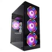 Gabinete Gamer Glass  PcFort Com 4 Fans Inclusos