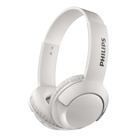 Headphone Bluetooth Philips Bass+, Branco - Shb3075wt/00