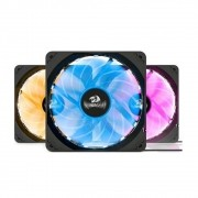 Kit Fan Cooler Rgb Redragon Gc-f006 Com 3 Fans 120mm - Filial