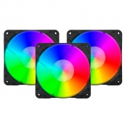 Kit Fan Cooler Rgb Redragon Gc-f007 Com 3 Fans 120mm - Filial