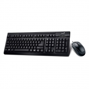 Kit Teclado E Mouse Genius Usb Km125 Preto