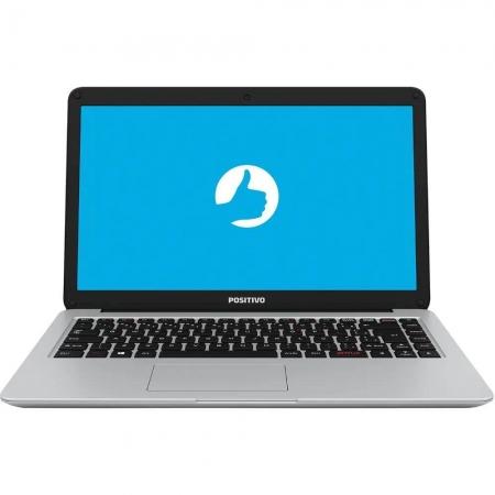 "Notebook Positivo Motion C41tai Intel Celeron Memória 4gb Ddr4 Hd 1tb Tela 14"" Hd Led Linux Prata Outlet"