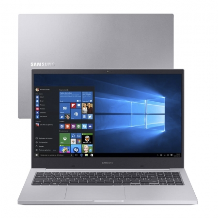 Notebook Samsung Book E20 Np550 Celeron 5205u Memoria 12gb Ssd 240gb Tela 15.6' Hd Windows 10 Home Prata