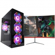 Pc Gamer One Concórdia Completo Monitor 23.8 Core I5 8Gb Hd 1Tb Ssd 120Gb Placa De Vídeo Gtx 1650 4Gb Wifi