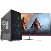 "Pc Gamer Top Concórdia Completo Monitor De 27""  Core I5 9400f  8gb Hd 1tb Ssd 120 Gb Placa De Vídeo Rx 550  4gb Wifi"