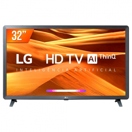 Smart Tv Lg Led 32' Led Hd Thinq Ai, Hdr, 3 Hdmi, 2 Usb, Wi-fi, Bluetooth - 32lm621cbsb