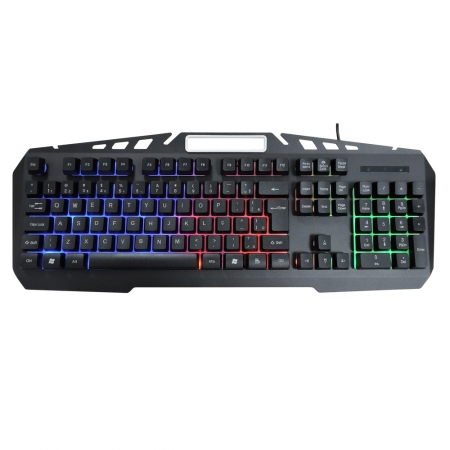 Teclado Gamer Kb- A328 Spartacus Metal Semi - Mecanico Led