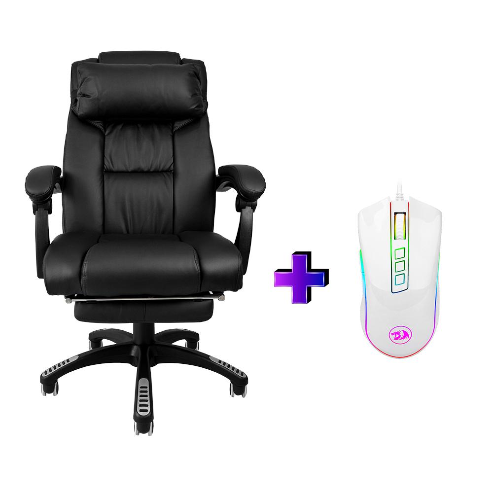 Compre e Ganhe no Kit Gamer : Cadeira Ac-8054 + Brinde Mouse Gamer Redragon M711W