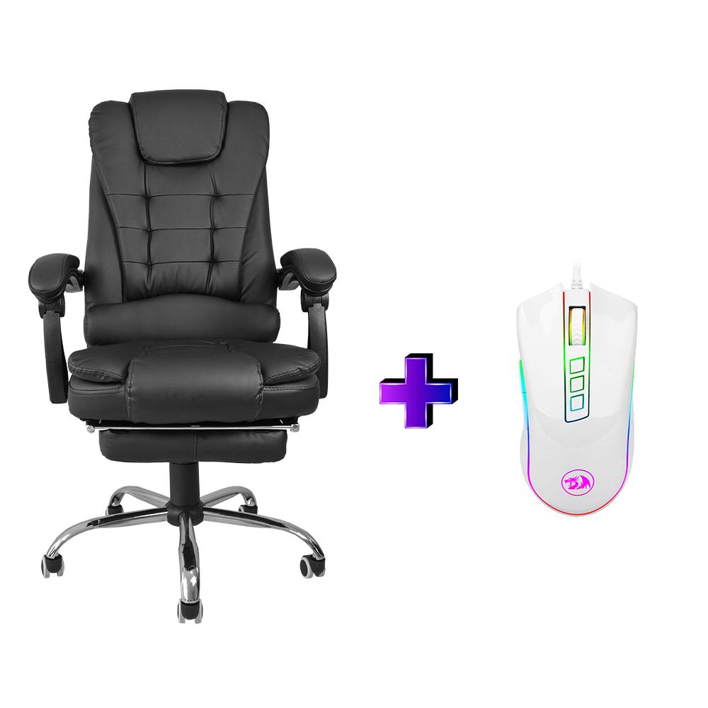 Compre e Ganhe no Kit Gamer : Cadeira Concórdia Ac-1311 + Mouse Gamer Redragon M711W