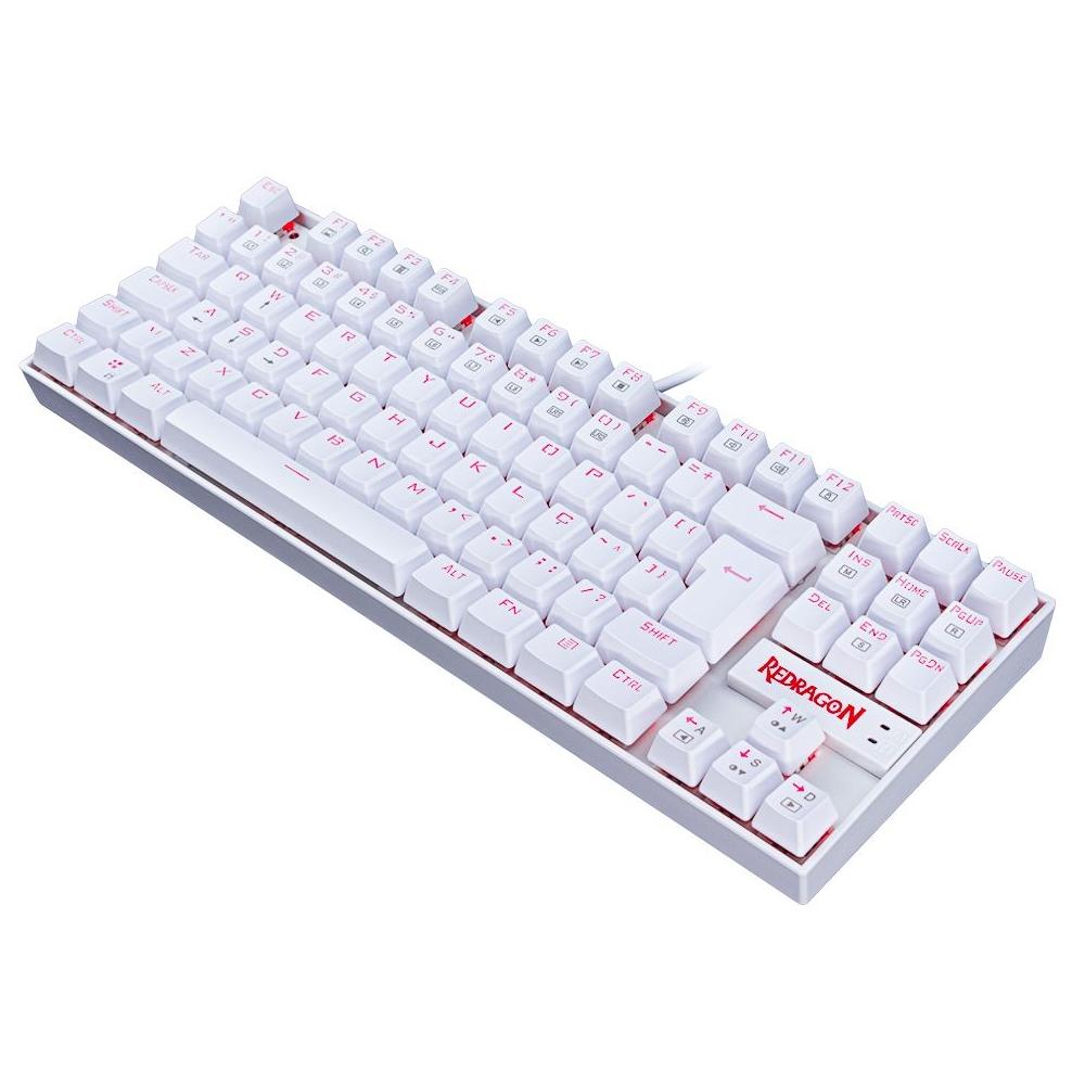 Compre e Ganhe no Kit Gamer: Cadeira Concórdia Ac-8069 Vermelha + Brinde Teclado Gamer Redragon Single Color Branco