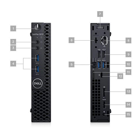 Computador Dell Optiplex 3070 Micro I5 9500t Memória 16gb Ddr4 Ssd 480gb + Ssd 256gb Sistema Windows 10 Pro