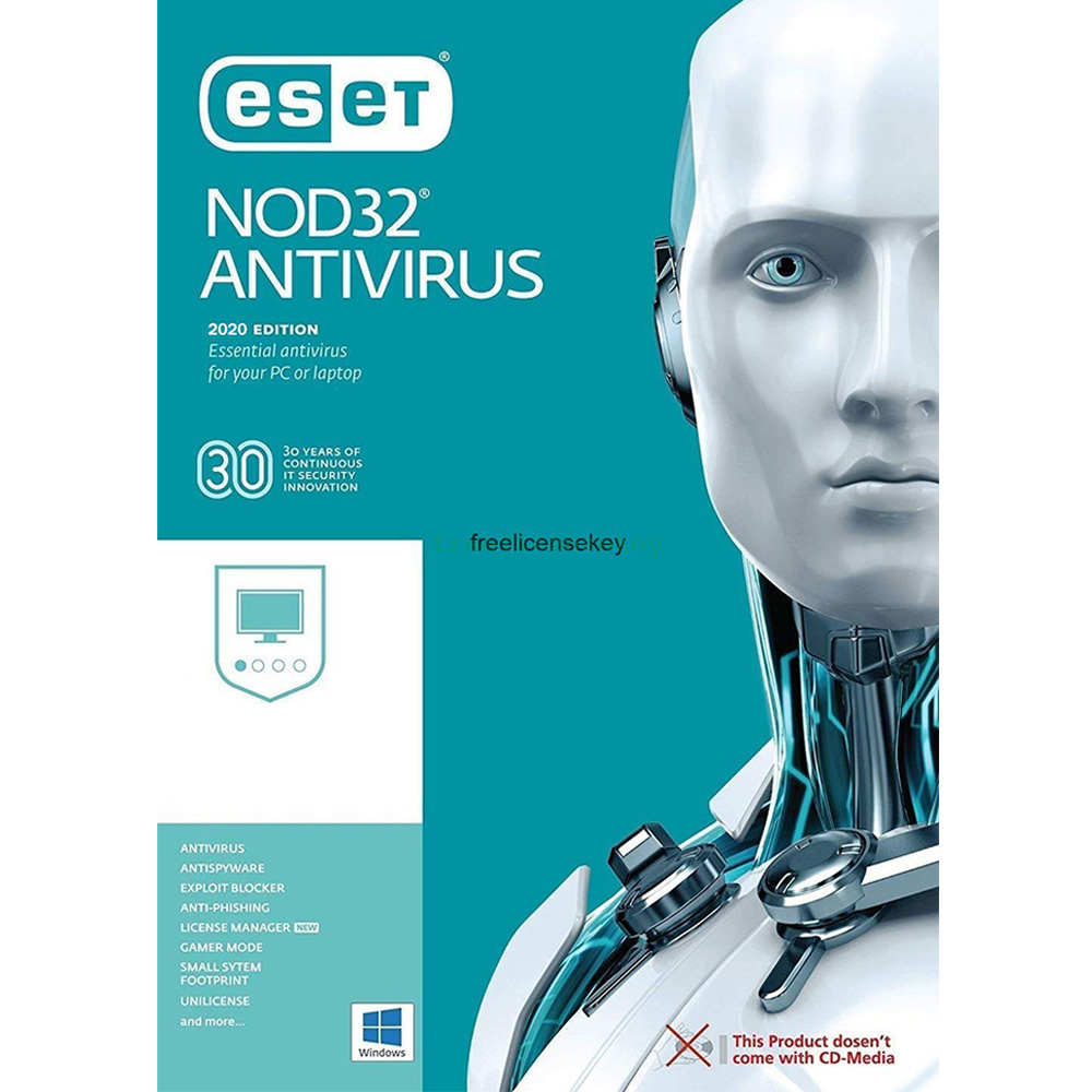 Eset Nod32 Antivirus 2021 - 1 Pc - 1 Ano