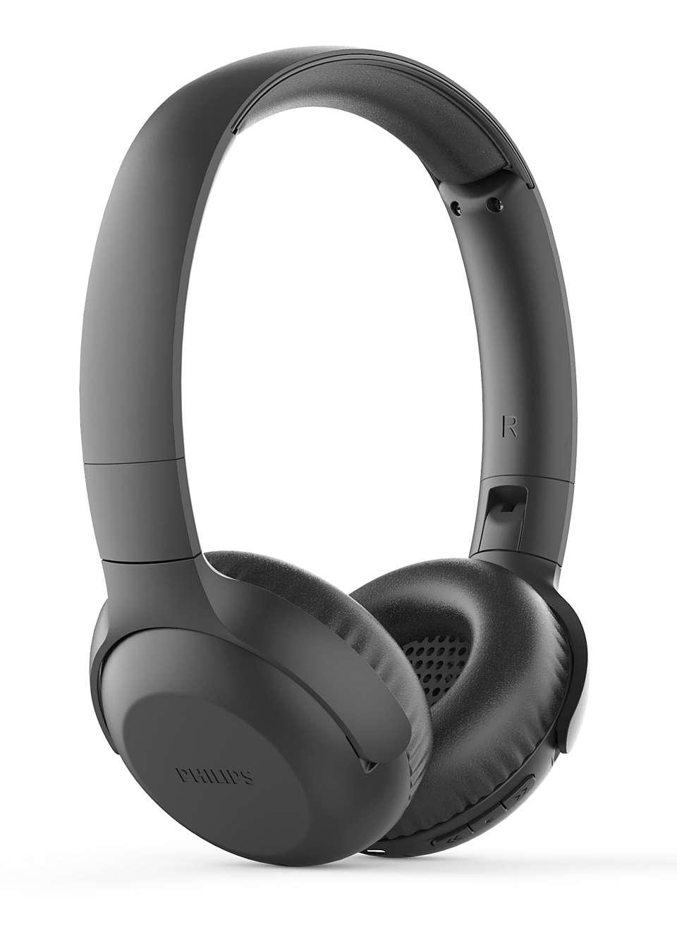 Fone De Ouvido Headphone Philips Wireless Sem Fio Preto - Tauh202bk/00