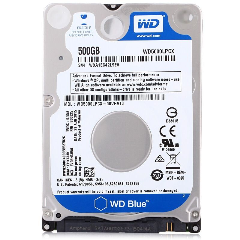 Hd Notebook 2.5 500Gb 5400Rpm Wd5000Lpcx Western Digital