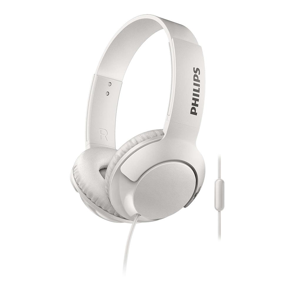 Headphone Bluetooth Philips Bass+, Branco - Shb3075wt/00