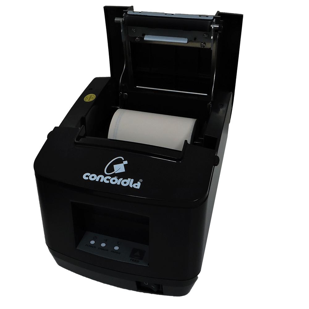 Impressora Não Fiscal Térmica De Cupom Concórdia Xp V320 Usb E Ethernet Preta