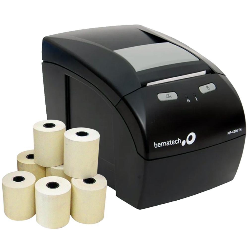 Kit Impressora Não Fiscal Térmica Bematech Mp 4200 Standart Bivolt + Caixa 30 Unidades Bobina Térmica