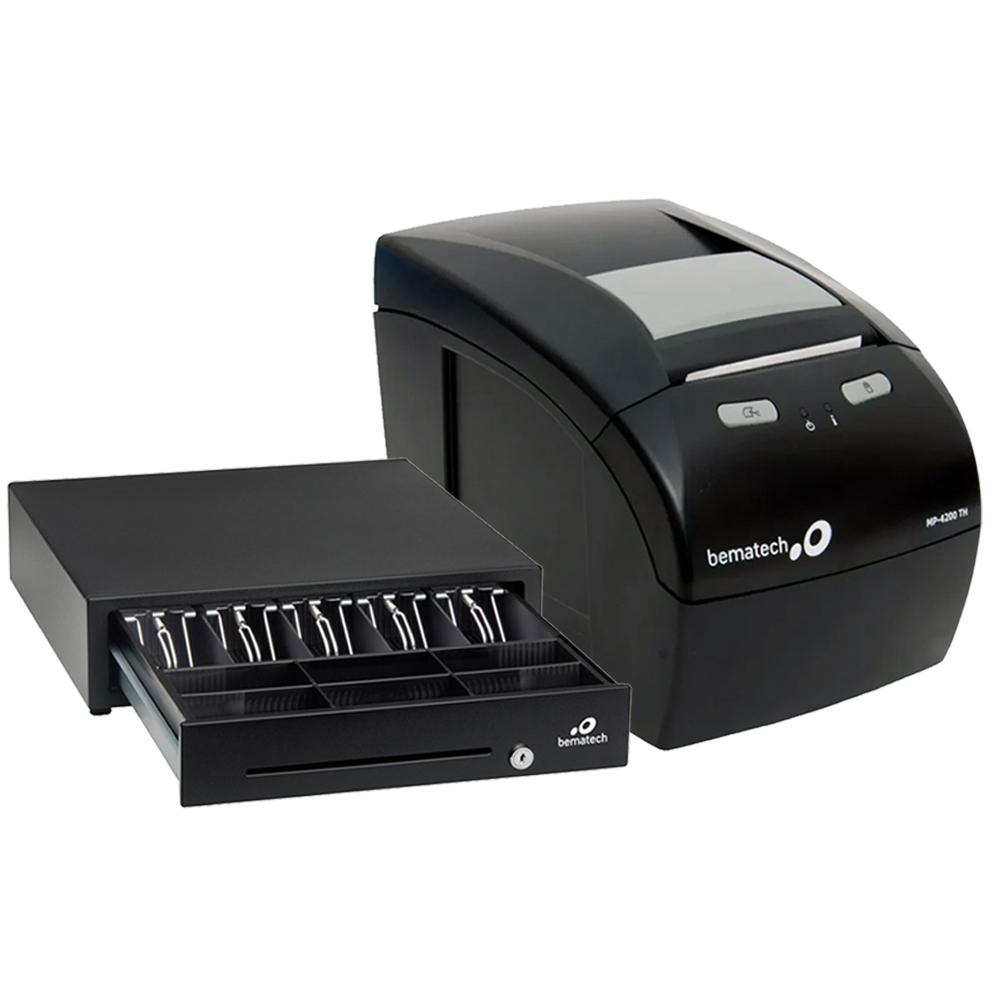 Kit Impressora Não Fiscal Térmica Bematech Mp 4200 Standart Bivolt + Gaveta Dinheiro Bematech Gd-56