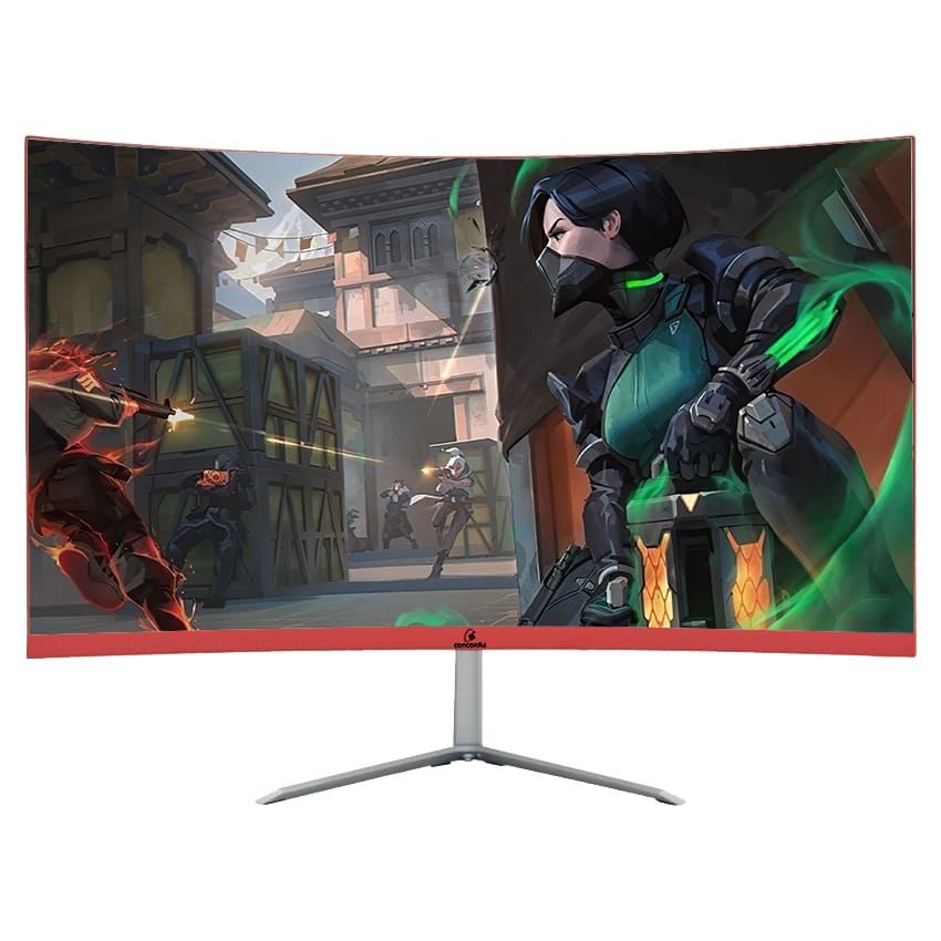 "Monitor Concórdia Gamer Curvo 23.8"" Led Full Hd Hdmi Vga Ips"