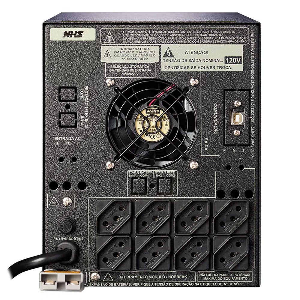 Nobreak Nhs Premium Pdv Max Gii 2200va 1200w B 2x17/18ah 8t E120/220v S120v